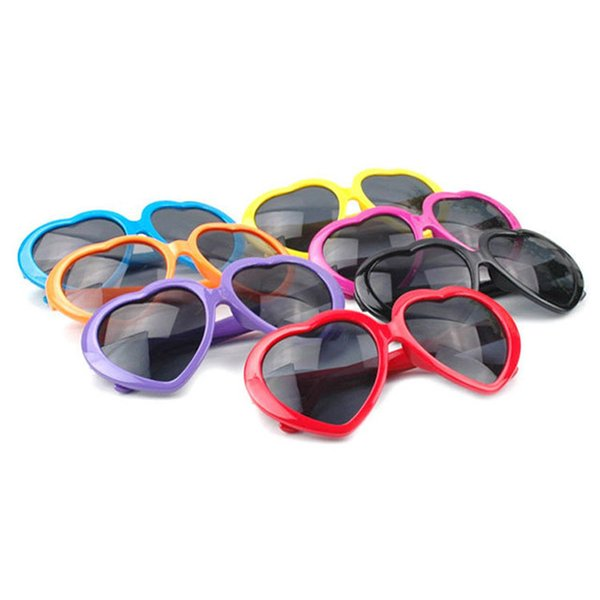 top popular outdoor eyewear sports sunglasses Heart Shaped Sunglasses Candy Colors Men And Women Summer Shade UV400 Glasses 2019