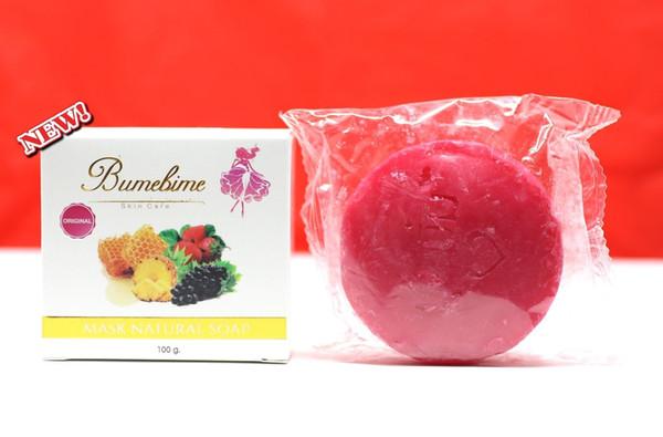 150 STÜCKE Hohe Qualität Bumebime Handgemachte Seife Thailand Bleichen Natürliche Seifen Haut Whitening Bad und Körper Arbeitet Obst Ätherisches Öl Seife 100g