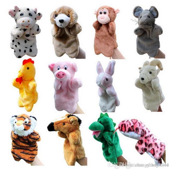 Vente en gros-1 pcs marionnettes à main drôle pour enfants marionnettes à la main en peluche à vendre marionnettes à la mode bande dessinée à la main style zodiac chinois grande taille chaude