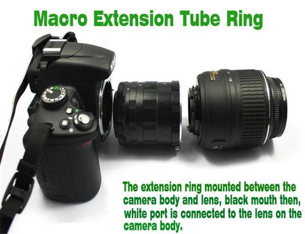 Kostenloser Versand! COMLYO Kamera Macro Extension Tube Ring Adapter Für Ai AF DSLR SLR D800 D7000 D700 D90 Kamera Zubehör