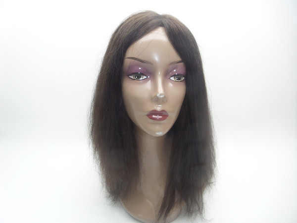 Full Lace Wig My Density 150% For Brazilian Human Hair Weaving Wavelength Straight hair natural color Women Wig Human Hair 100% kabell wigs