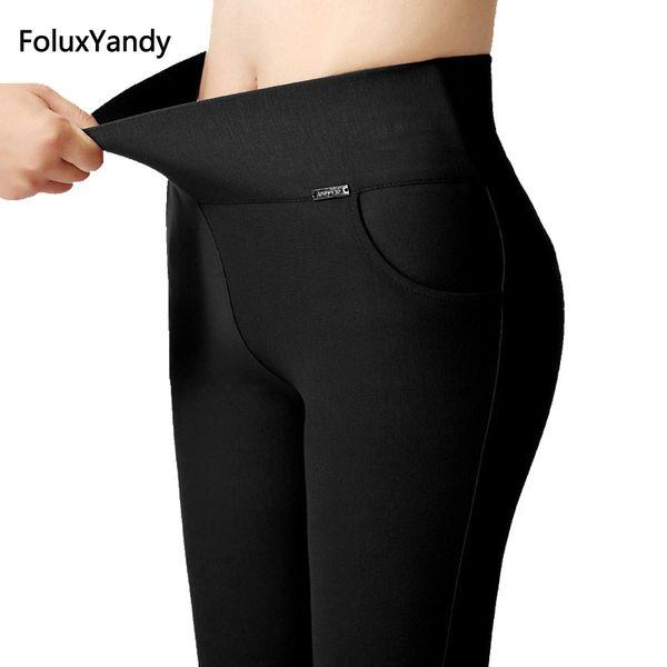 11c84b05d0d 6 Colors High Waist Leggings Women Plus Size 3 XL Slim Elastic Stretched  Bodycon Leggings Office