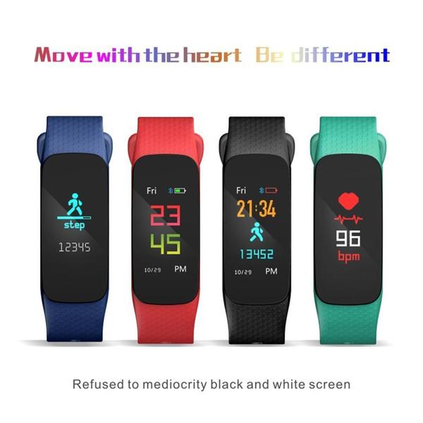 L6 Smartband Pedometre Bilezik Spor Izci Kalp Hızı Bant Kan Basıncı Su Geçirmez Spor İzle Band Bilezik