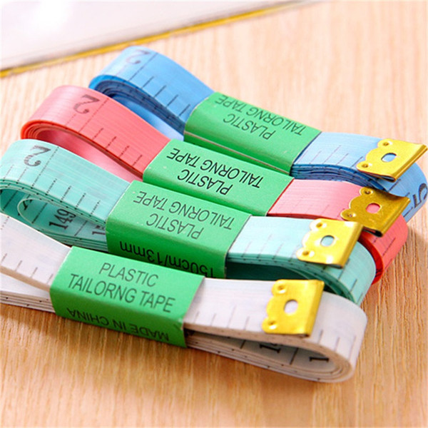 top popular Measuring Ruler Tailoring Sewing Tailor Tape Body Measure Soft Tool Mini Retractable Portable Good Quality 0 17cd Y 2021
