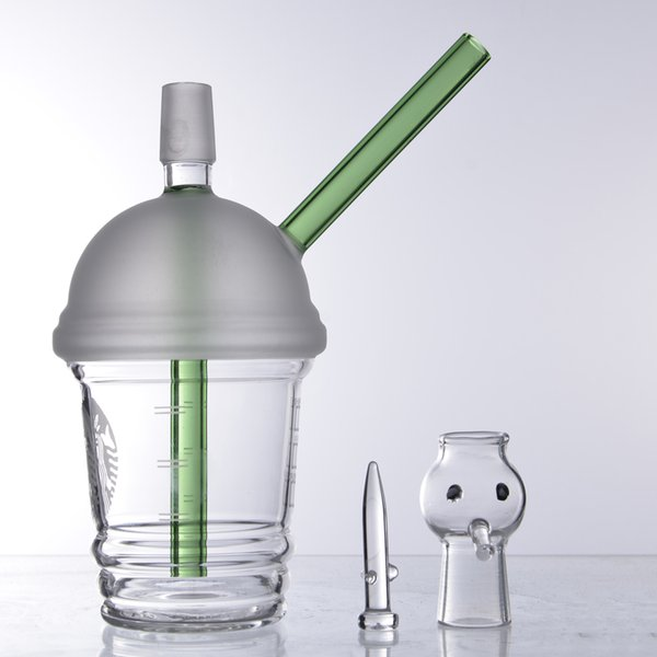 2019 18mm Starbucks Glass Bong Water Pipe Mini Bong 18 Small For