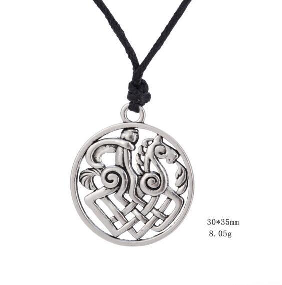 Thor Loki Asgard Cheval Nordique Viking Pendentif Gothique Bijoux Collier Sleipnir Odin Médaillon Amulette Dieu Bijoux Pour Hommes