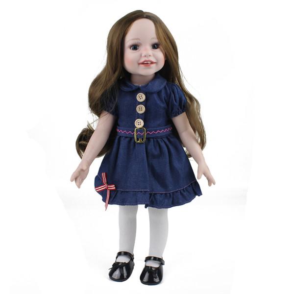 Wholesale- 18inch Baby Girl Doll Handmade BJD Doll Real Reborn Babies Doll for Children Birthday XMS Gift
