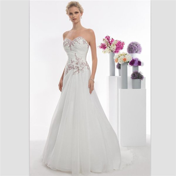 2018 Sexy Sweetheart White Organza Mermaid Wedding Dresses Custom Lace Up Bridal Gowns Custom Sweep Train Lace Appliques Bridal Dresses