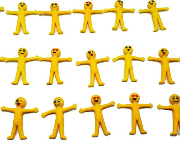 top popular New Flexible Soft Yellow Emoji Small Person Doll Kids Stretchable Toys Home Funny Gift Free Shipping 2019
