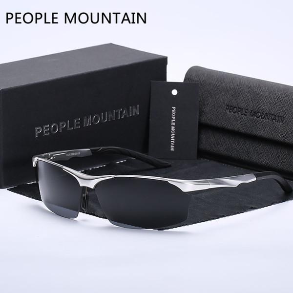 Hot Sale Aluminium Magnesium HD Polarized Sunglasses Men Retro Outdoor Driving Male Sun Glasses Fashion lentes de sol hombre