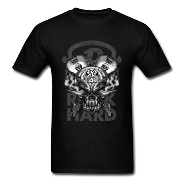 T-Shirt Skull Guitar RH Slim Fit girocollo Casual manica corta 100% cotone T Shirt da uomo Party Tee-Shirt di alta qualità