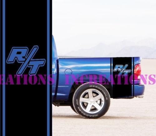 Für Universal 1 Satz / 2 Stücke Hemi Dodge Bett Streifen Lkw Aufkleber Mopar Aufkleber Set von 2 Racing Stripes RT