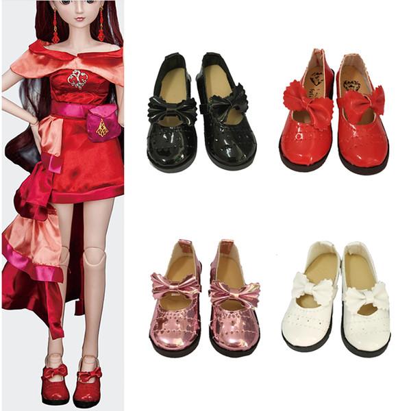 8cm 1/3 Dolls Fashion PU Leather Shoes For 16inch 43cm SD doll BJD nude dolls