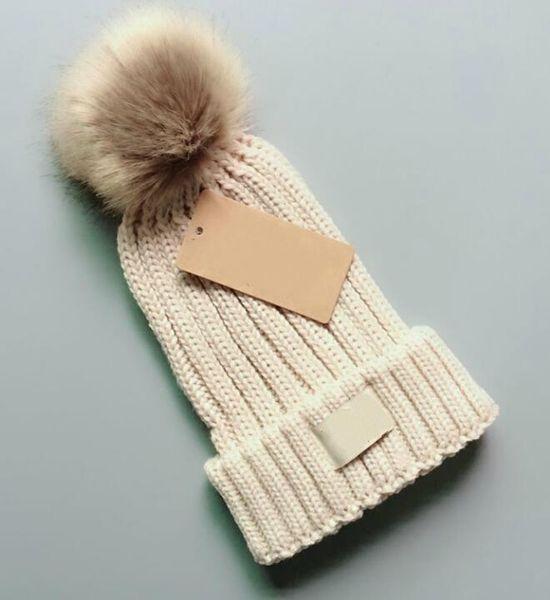 2018 mens designer hats bonnet winter beanie knitted wool hat plus velvet cap skullies Thicker mask Fringe beanies for men