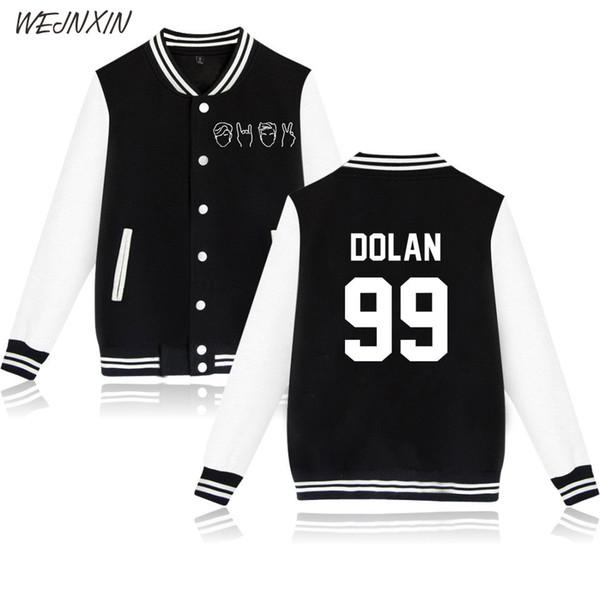 WEJNXIN Fashion Dolan Twin Baseball Jacket Men Women Streetwear Hip Hop Fleece Sweatshirt Casual Long Sleeve Hoodies Sudadera