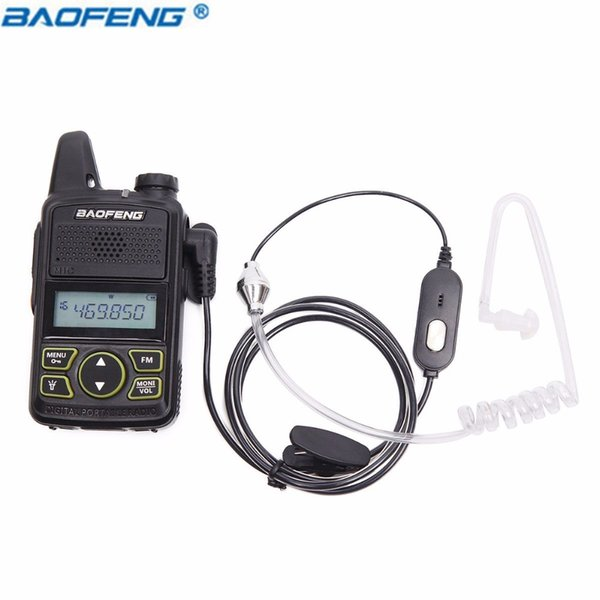 Baofeng BF-T1 PTT Mic Air Acoustic Tube Earpiece Walkie Talkie Headset For Baofeng BF-T1 Walkie Talkie BFT1 Mini Ham Radio