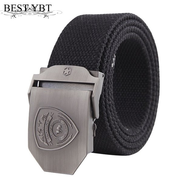 Best YBT New Unisex Belt Canvas Alloy Smooth buckle Women Belt Cowboy Outdoor Sports Fashion Casual Hot Selling Men