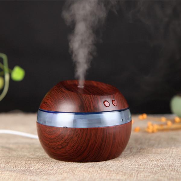 Caliente 300 ml Enchufe USB Humidificador ultrasónico Aroma Difusor de aceite esencial Aromaterapia fabricante de niebla con luz azul LED Envío gratis