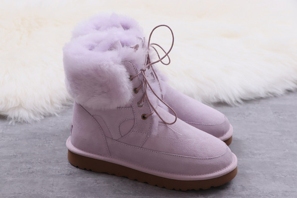W Classic Mini Np Patch Winter Fluff Snow Boots Fur Warm Boot Shoes for Woman 00Ugg02