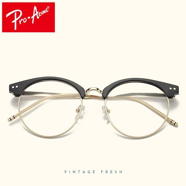 Compre Pro Acme Diseño Redondo Gafas Transparentes Para Mujeres ...