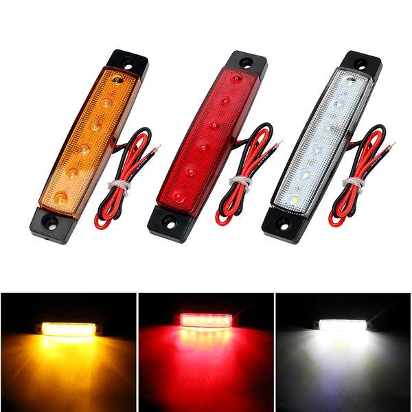 2 LED Indicatori di direzione Indicatori di direzione per camion a LED Indicatori di direzione per auto 12 V 24 V Rimorchio per auto Coda di avvertimento Lampada Lampade per freni Auto-Styling