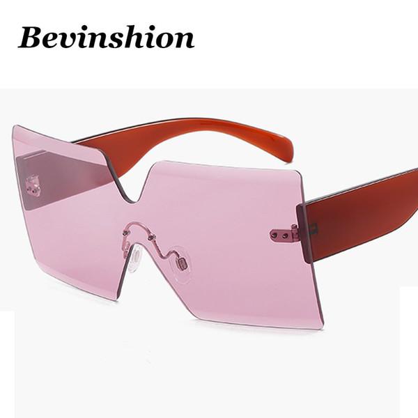 6f6c0a2513853 Marca Sem Aro Um Pedaço De Corte De Grandes Dimensões Óculos De Sol  Quadrados Das Mulheres