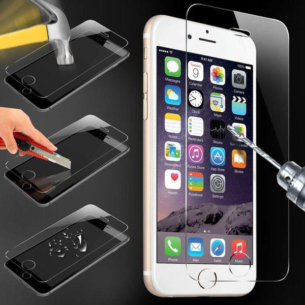 9H de vidrio templado para iphone XS MAX XR X 8 5 5s SE 6 6s plus 7 plus protector de pantalla protectora cubierta de la caja de la película + kits de limpieza