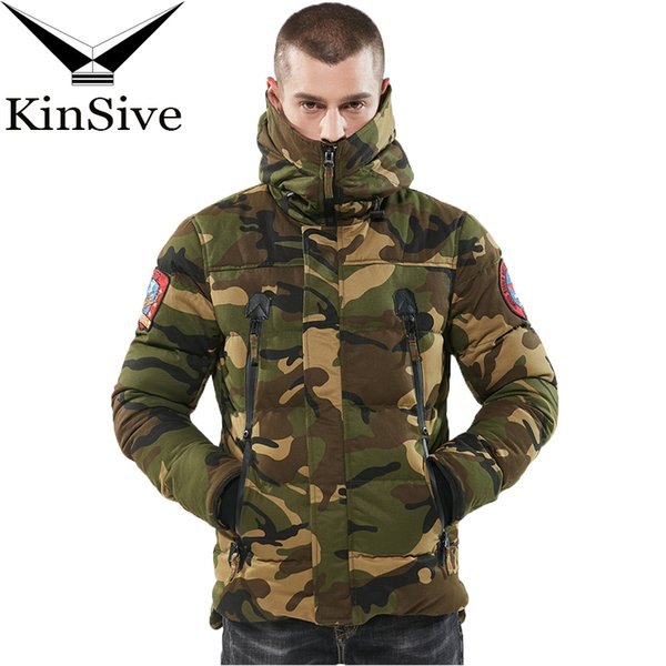 Brand Military Jackets Men Camouflage Hooded Windproof Thicken Coat Winter Cotton Padded Jacket Men Parka Warm Male Overcoat