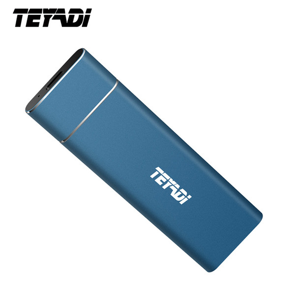 TEYADI E206 128 GB SSD Portátil de Estado Sólido, USB 3.1 Gen 2 SSD Externo, M.2 Chip de Alta Velocidade, para Android / PC / Macbook