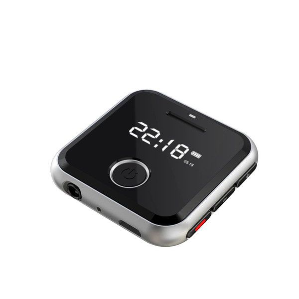 HBNKH R300 Portable Metal Clip Sports Mini MP3 HiFi Music Player 8G 0.91 inches WAV Voice Recorder FM Radio Can Play 30 Hours