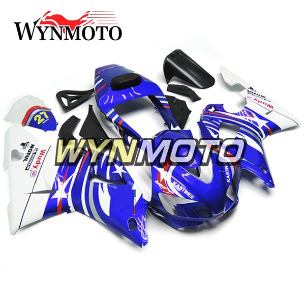 Full Body Frames For YZF1000 R1 1998-1999 98 99 Injection ABS Plastics Hull Blue White Cowlings Motorbike Yamaha R1 Frames