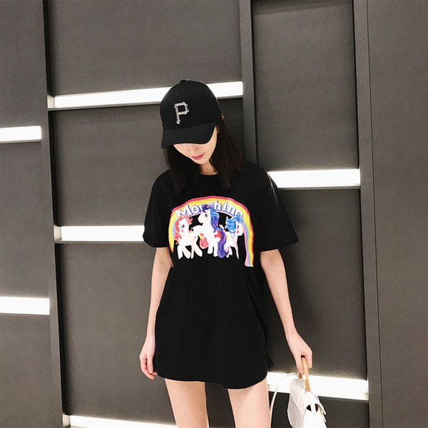 2019 High Quality Crew Neck Pony Cartoon T Shirts For Men And Women Hip Hop  Short Sleeve Tee Shirts Summer Street Style Swag Clothes From