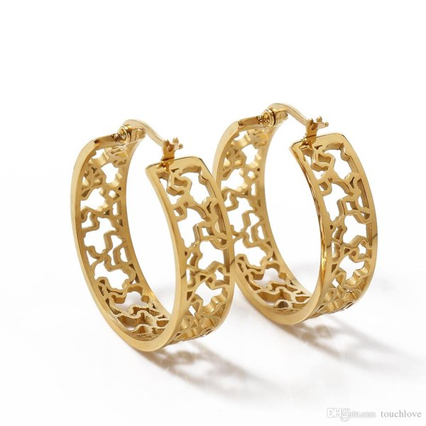 TL Gold Filled Vintage Edelstahl Bär Ohrringe für Frauen Körper Schmuck Geschenk Marke Schmuck neu