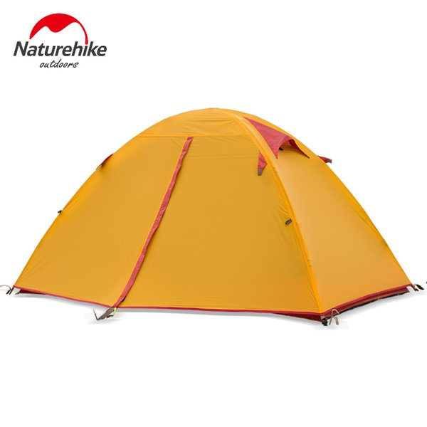 Waterproof Camping Tent Naturehike Outdoor Backpacking Light-Weight 2 Person Double Tent Portable Shelter Tents With Carry Bag