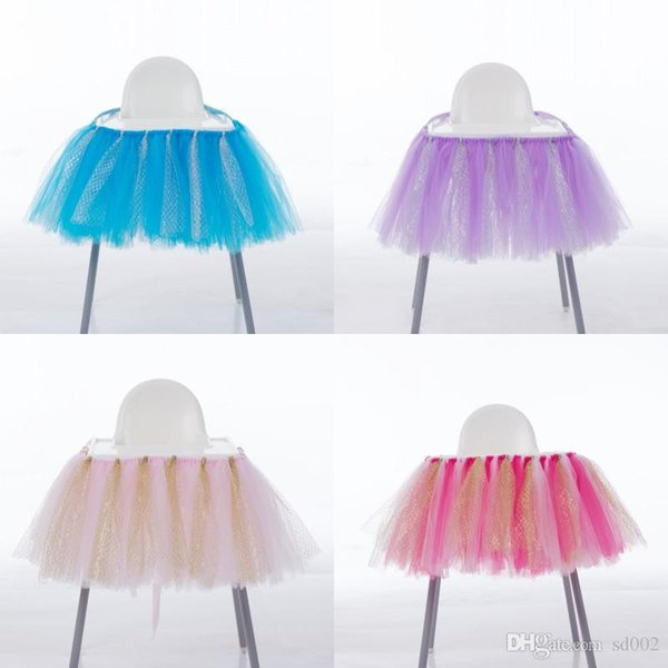 Birthday Party Decoration Chairs Cover Multi Color Fashion Tutu Chair Skirt Designer Wedding Ornament Case Hot Sale 28mr ZZ
