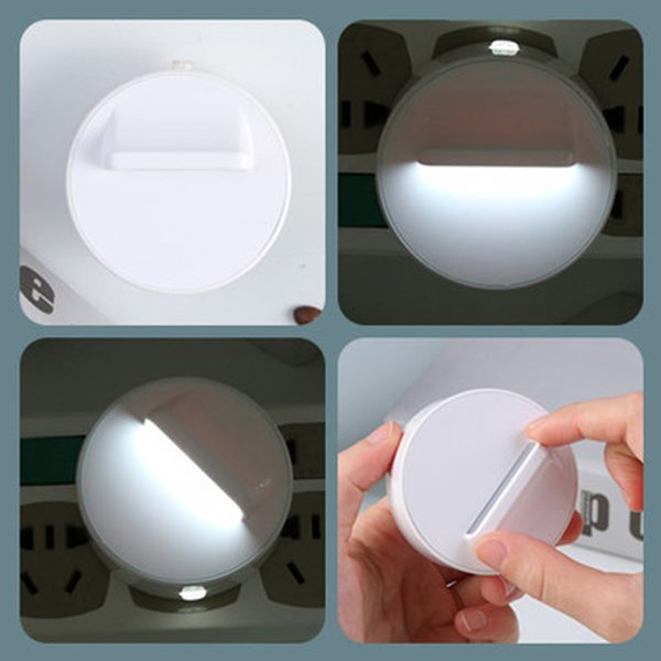 US Plug LED Night Light 360 Degree Rotation Plug-in Wall Lamp Home Lighting Baby Room Decors Bedroom Lamp Switch Control