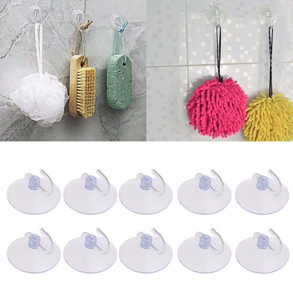Wholesale- 10PCS Glass Window Wall Strong Suction Cup Hooks Hanger Kitchen Bathroom New MAY19