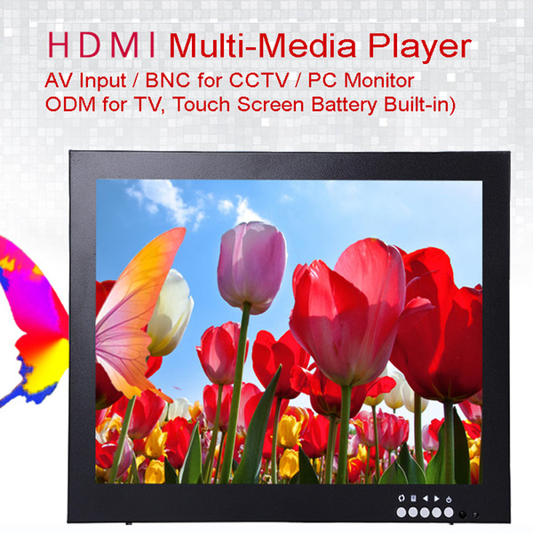 top popular 12 Inch 1024X768 HD CCTV Monitor with Metal Shell & HDMI VGA AV BNC Connector for PC Multimedia & Donitor Display & Microscope 2019