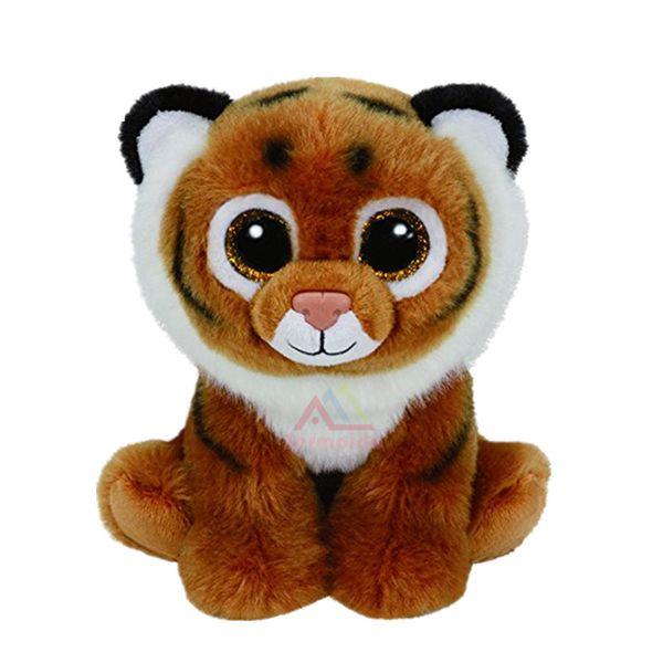 "TY Beanie Boos 6"" 15cm Tiggs Brown Tiger Big Eye Plush Toys Stuffed Animals Kids Toys Gift Children S247"