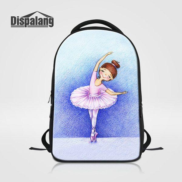 Brand Designer Laptop Backpack For Women Daily Bagpacks Ballet Girl Print School Bags For Teens Girls Bookbag Mochila Female Rucksack Rugtas