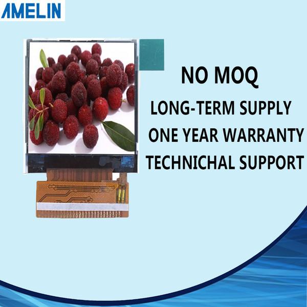 AML144P27010-A Écran de module LCD avec écran de module MCU 128 * 128 pouces avec écran d'interface MCU et panneau ST7735S IC
