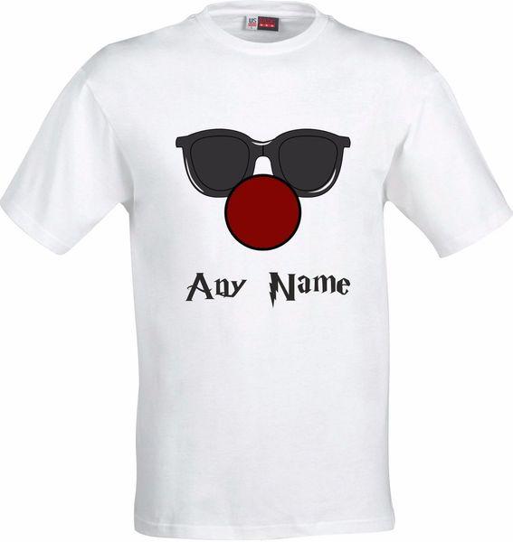 PERSONALIZADO CLOWN FACE CON GRANDE NARIZ ROJA HUMOR FULL COLOR SUBLIMATION CAMISETA Manga Camiseta Verano Hombres Camiseta Tops Ropa