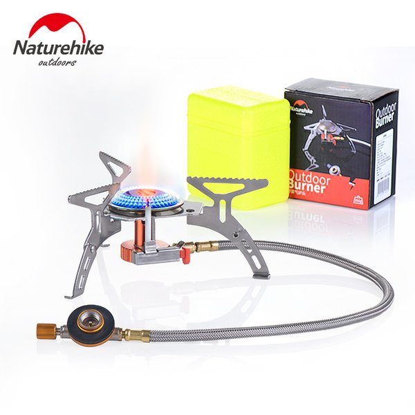 Naturehike Outdoor Folding One-Piece Copper Stove Cooking Furnace End Split Type Gas Burners Portable Stove Gas Cookers Camping Equipment