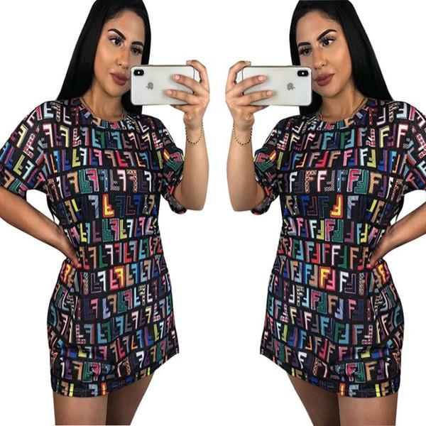 2018 nuovi vestiti dalle donne di modo hanno personalizzato i mini vestiti dalla maglietta della maglietta stampata blocco russo della maglietta Dropshipping libero