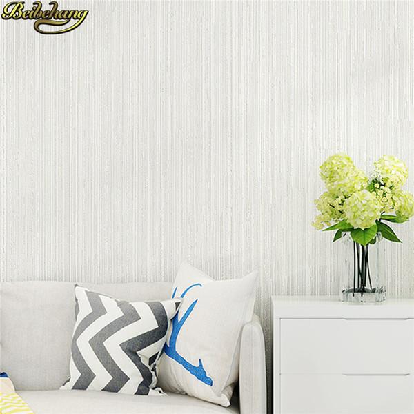 Beibehang Modern Minimalist Pure Color Wallpaper Bedroom Living Room