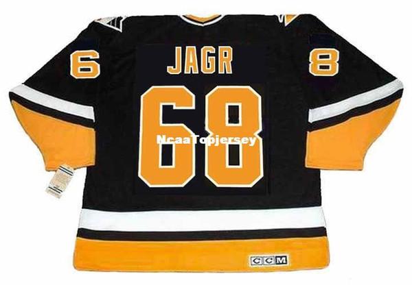 benutzerdefinierte Herren Trikots JAROMIR JAGR Pittsburgh Penguins 1996 CCM Vintage Weg Billig Retro Hockey Jersey