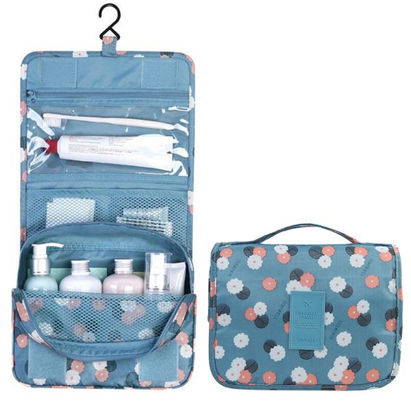 Portable Waterproof Folding Wash Bag Travel Toiletry Hanging Holder Organizer Cosmetic Makeup Container Handbag Storage Bag