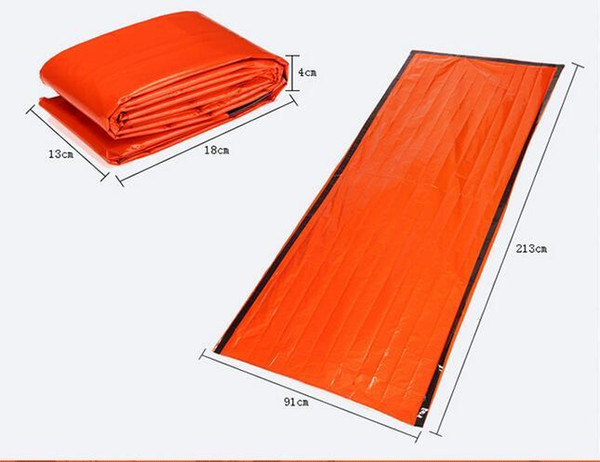 Portable Emergency foil Reusable Waterproof Rescue Space Thermal Sleeping Bag Outdoor Camping Travel Hiking travel kits