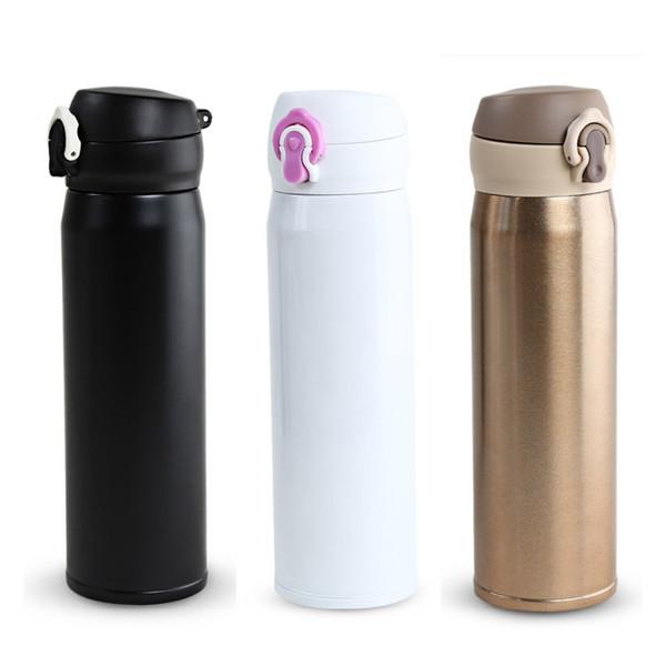 500 ml Bullet Shape Mug thermos en acier inoxydable Voyage Bouteille Café Thé Eau