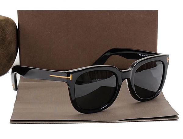 Бренд солнцезащитные очки Женщины мужчины большая рамка солнцезащитные очки Марка круглые солнцезащитные очки TF211 покрытие Oculos ретро мода Gafas De Sol с оригинальной коробке